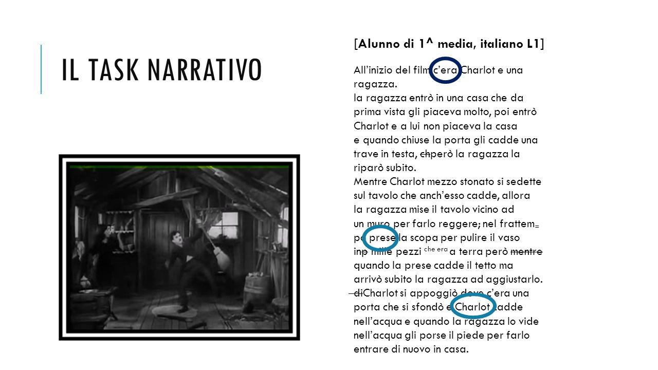 Il task narrativo [Alunno di 1^ media, italiano L1]